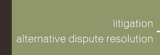 Litigation and Alternative Dispute Resolution
