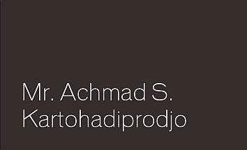 Mr. Achmad S. Kartohadiprodjo